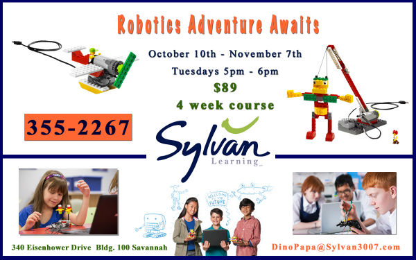 Robotics camp classes Sylvan Learning Center Savannah