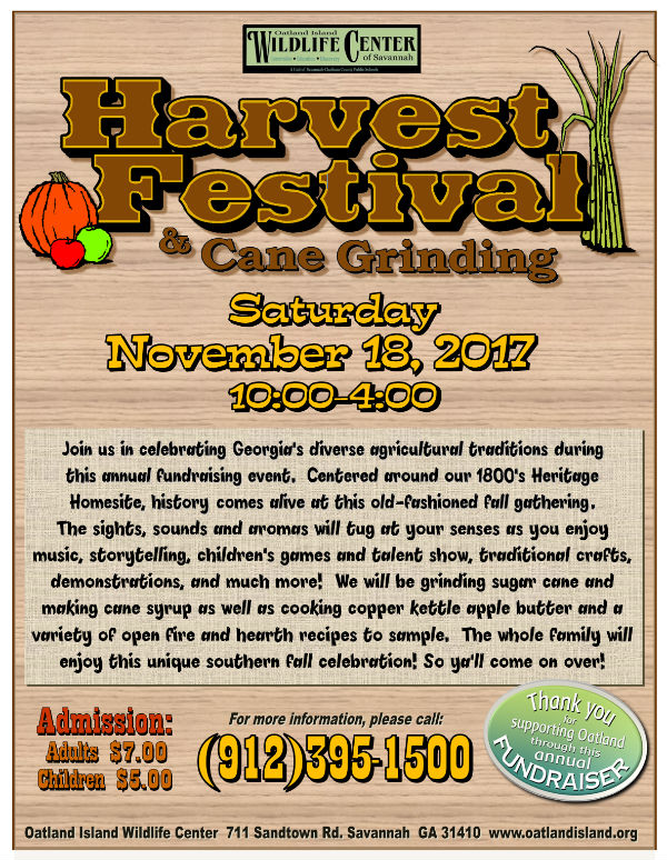 Oatland Island Wildlife Center Harvest Festival Cane Grinding Savannah 2017