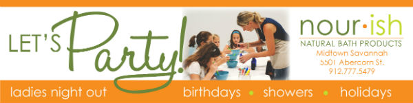 Nourish Savannah children's birthday party venues Ladies Night Out showers