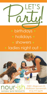 Nourish Savannah Birthday Parties Showers Ladies Night Out Parties