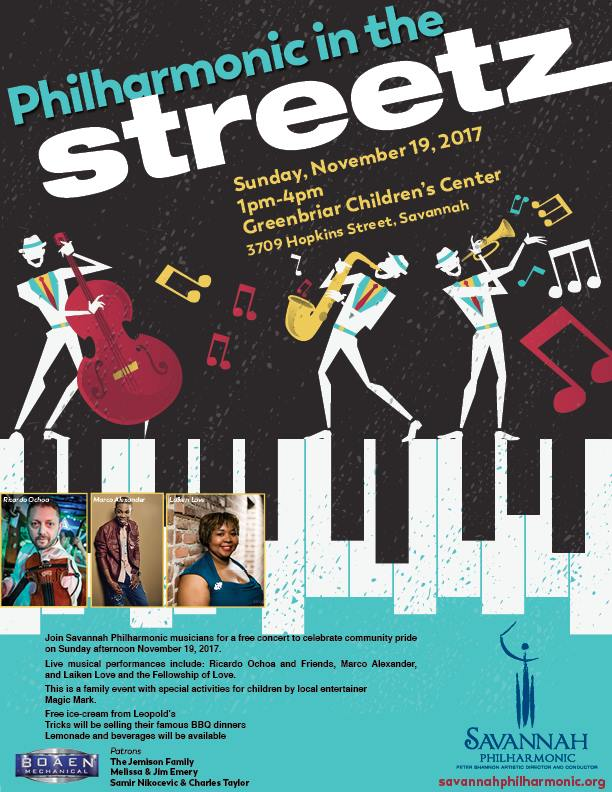 Free Philharmonic in the Streets Savannah