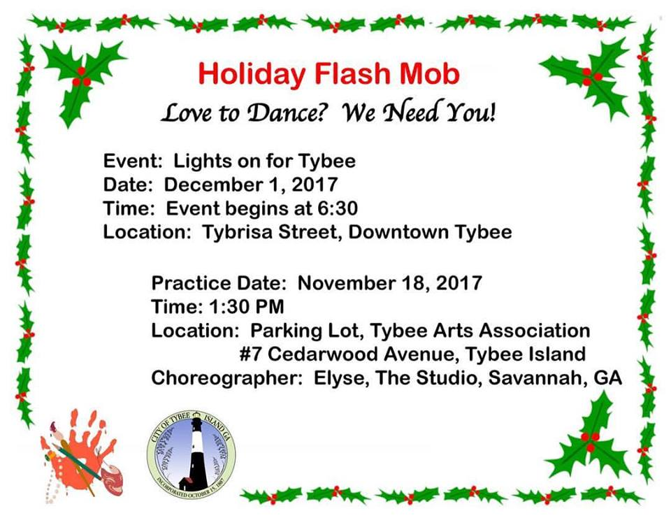 Holiday Flash Mob Studio Savannah Tybee Tree Lighting