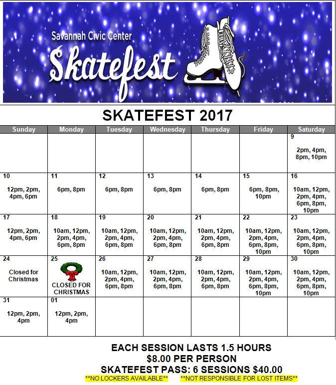 SkateFest 2017 Savannah ice skating holidays CHristmas