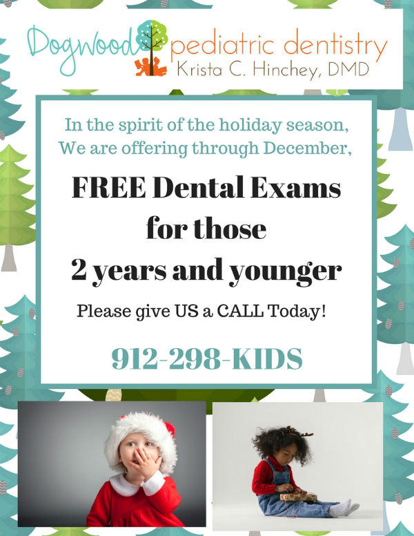 Free dental exams Savannah Dogwood Pediatric Dentistry