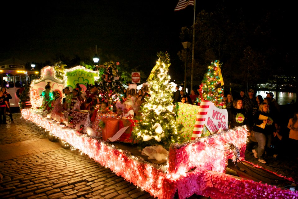 Christmas holiday events Savannah parades Santa