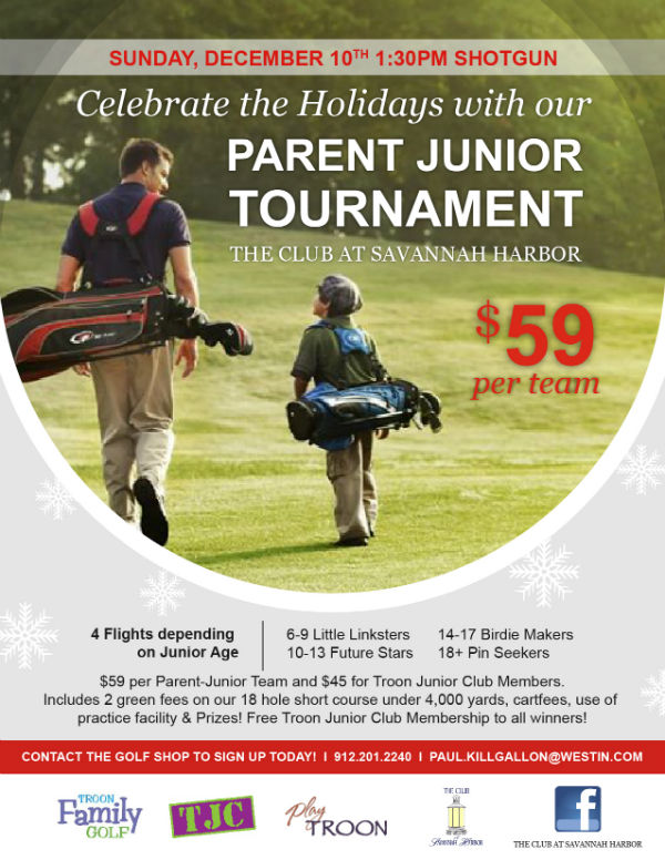 Parent Junior Golf Tournament Savannah Club Savannah Harbor 2017