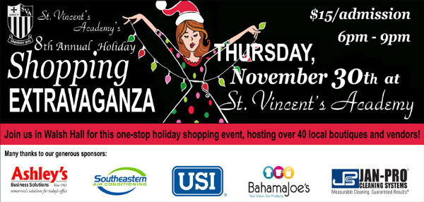 Holiday shopping St. Vimcent's Savannah 2017