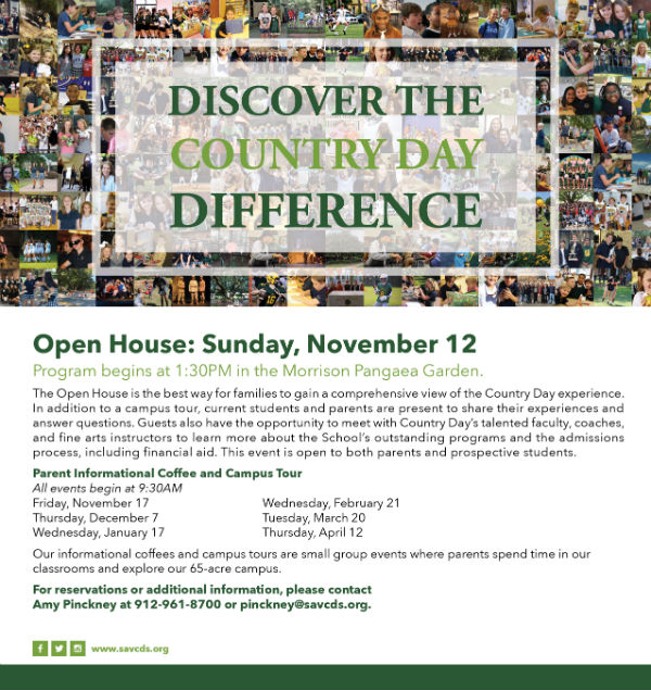Savannah Country Day School Open House Fall 2017