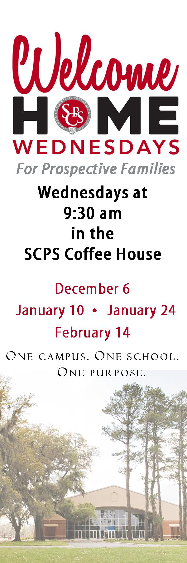 Savannah schools Savannah Christian Preparatory School private education SCPS Welcome Wednesdays Open House