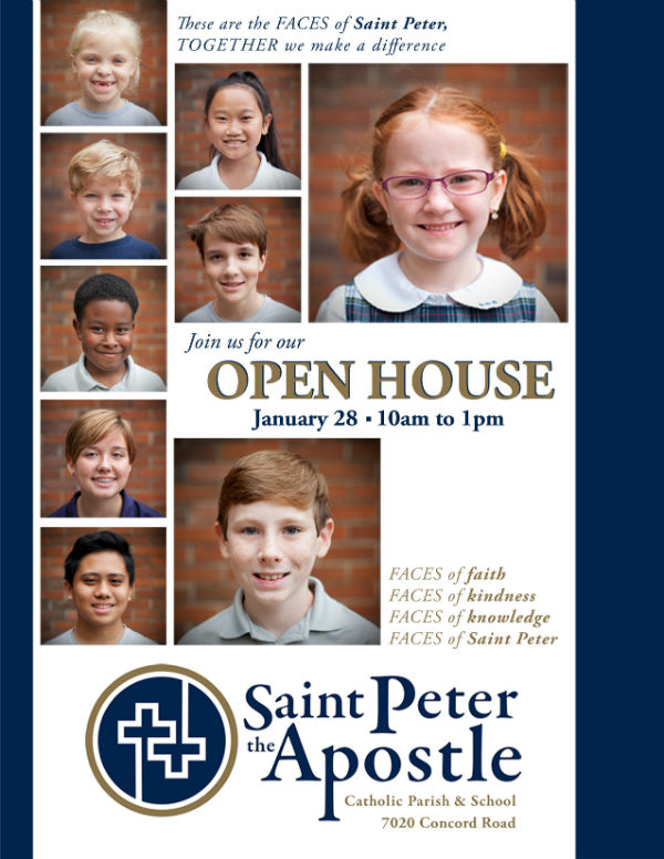 Saint Peter Catholic School Savannah open house 2018 Wilmington Island private schools