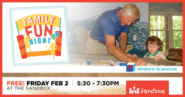 Sandbox Children's Museum Hilton Head Free Family Night 2018