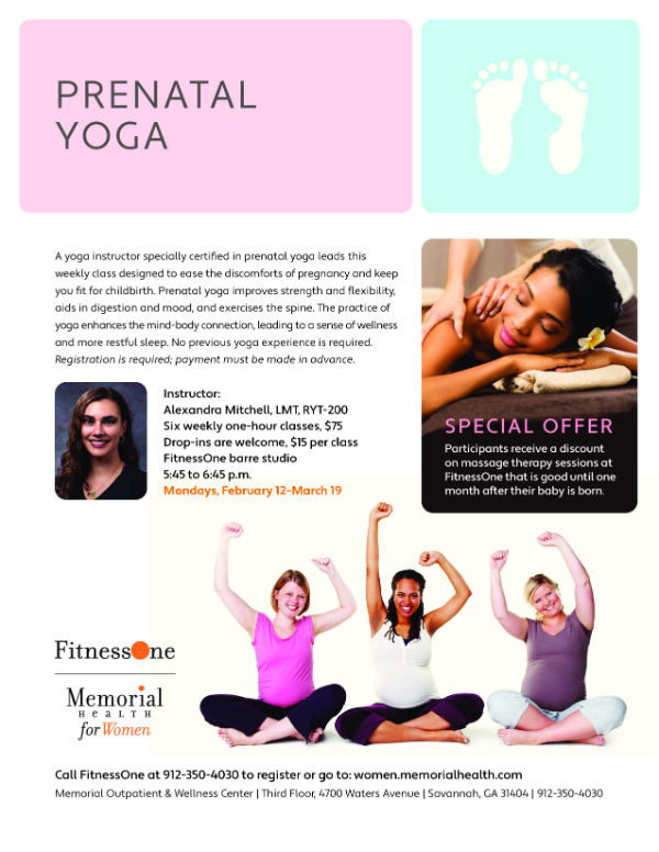 Prenatal pregnancy yoga Savannah Memorial Health