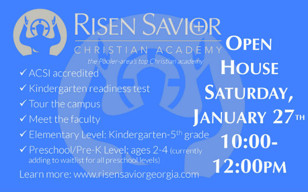 Risen Savior Open House Pooler schools Savannah