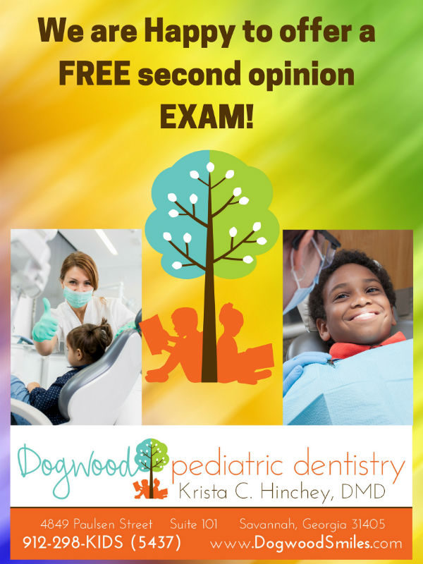 free dentist second exam Savannah Dogwood Pediatric Dentistry dentists