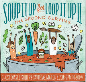 Soup It Up for Loop It Up 2018 fundraiser outreach Savannah