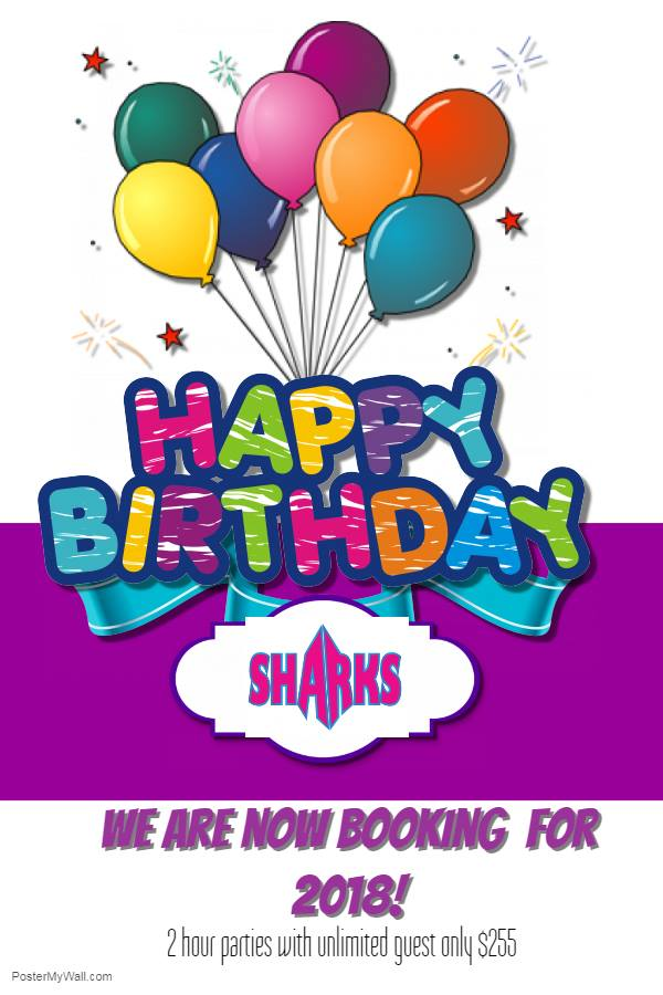 children's birthday parties Savannah Savannah Sharks