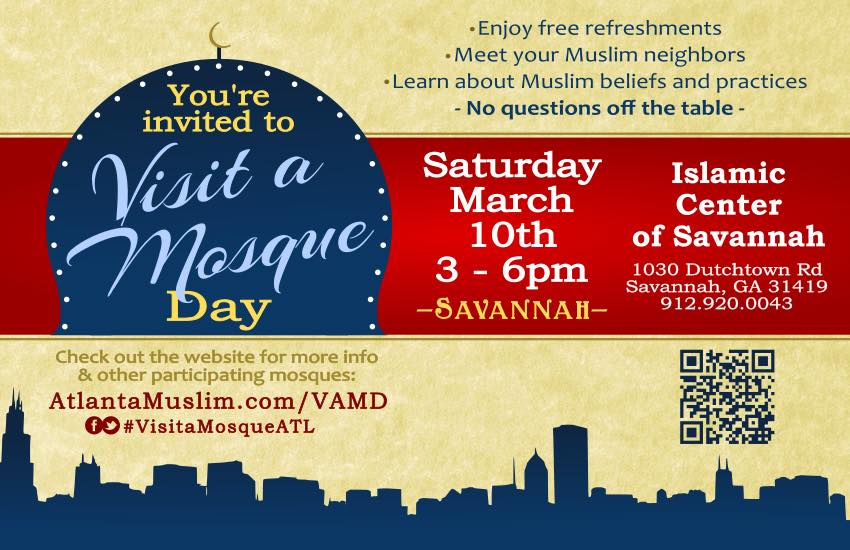 Visit Mosque Day March 10 Savannah 2018