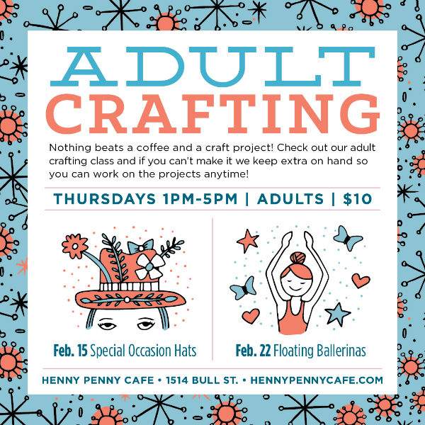 Adult Crafting Henny Penny Art Space Savannah