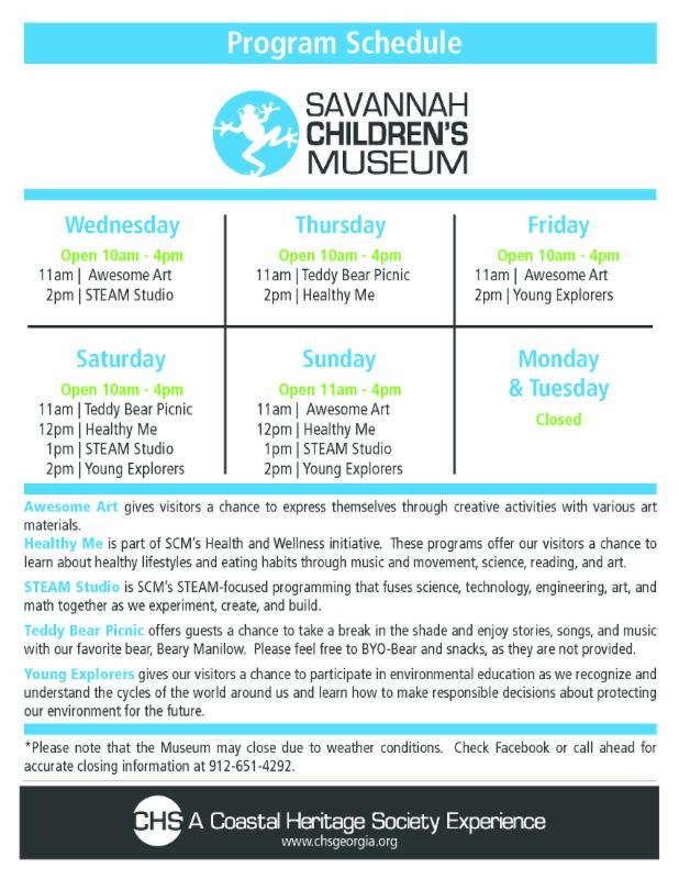 Savannah Children's Museum Daily Activities Kids Toddlers