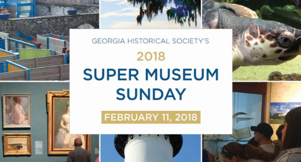 Super Museum Sunday 2018 free admission to Savannah museums, historical sites