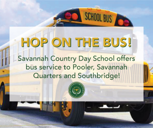 Savannah schools bus Pooler Southbridge Savannah Quarters Savannah Country Day