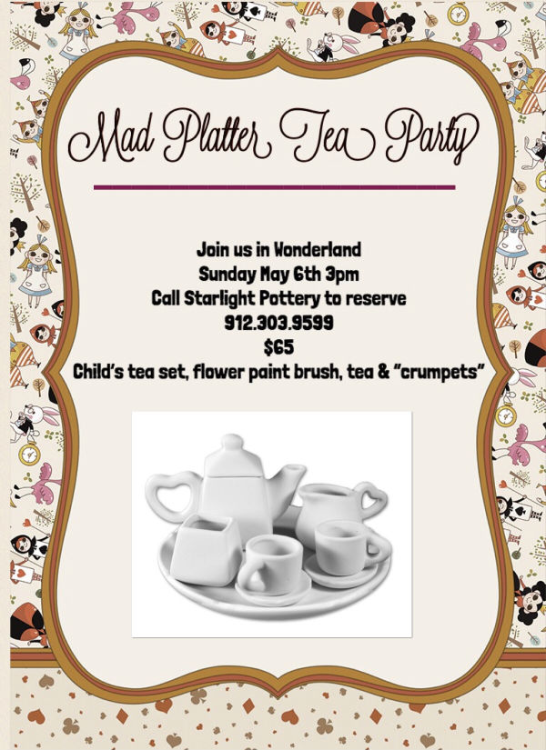 Starlight Pottery Tea Party Mother's Day 2018 Savannah
