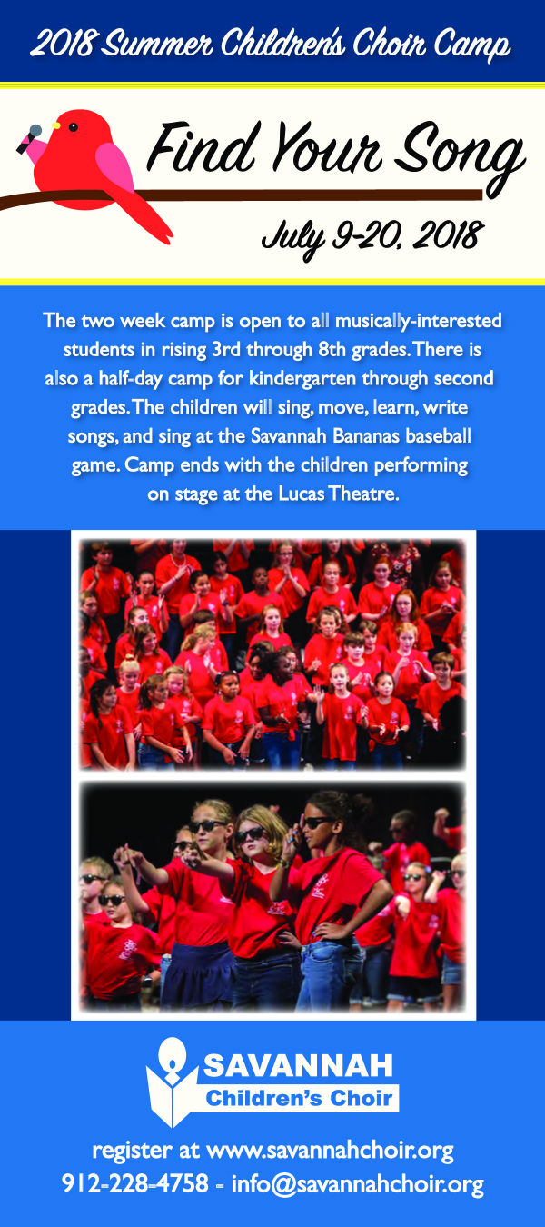 Savannah Children's Choir Summer Camp 2018