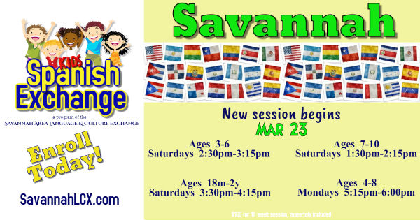Spanish kids classes Savannah