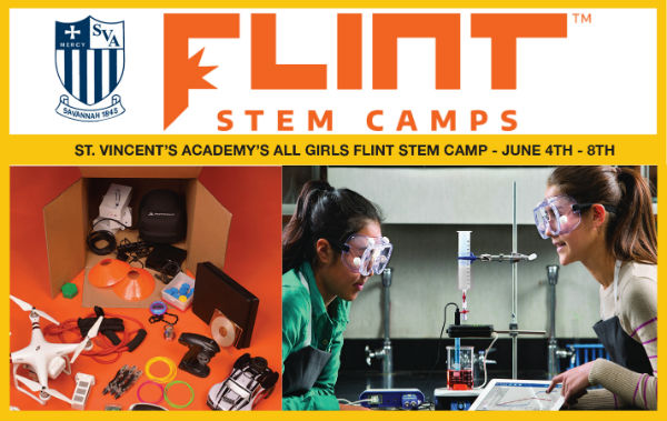 Flint STEM Girls Camp Savannah St. Vincent's Academy Summer Camps