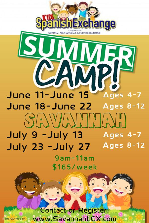 spanish immersion summer camps Savannah Richmond Hill 2018