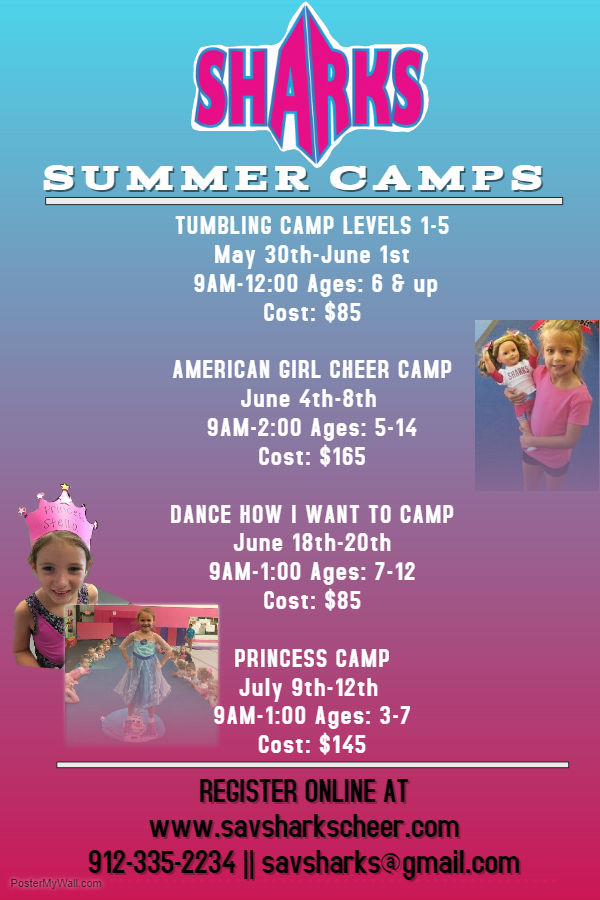 America Girl Princess Summer Camps Savannah Sharks 2018