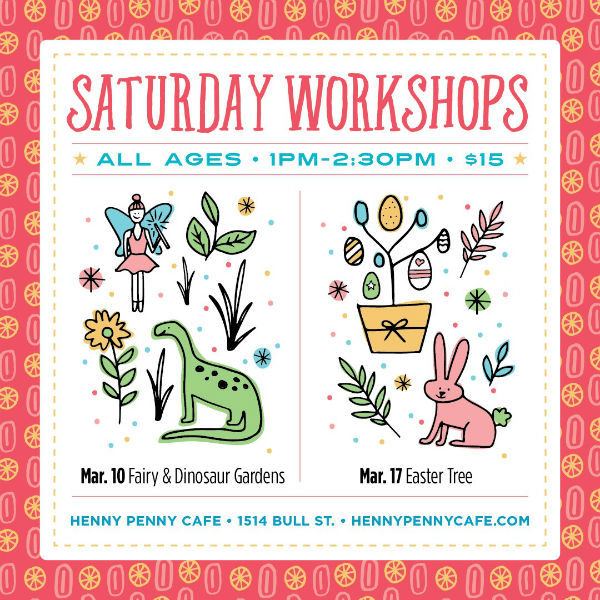 Saturday Workshop Henny Penny Art Space Savannah