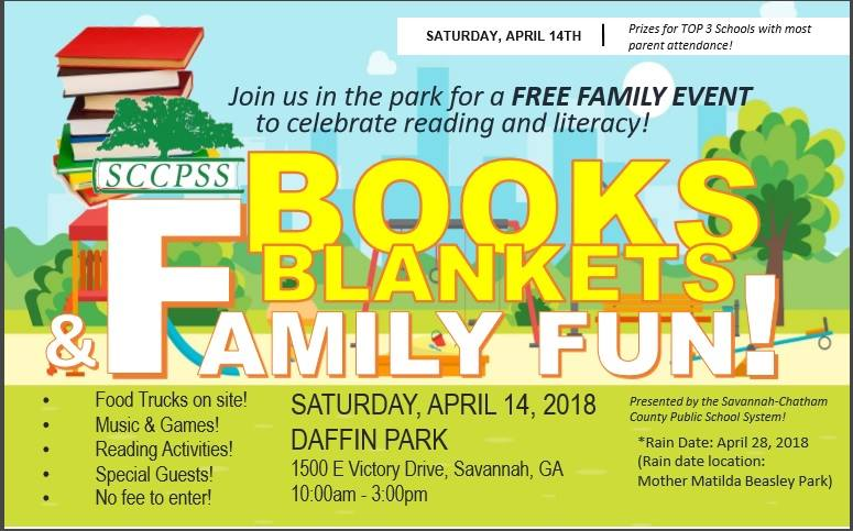 Free Book Blanket Savannah schools Family fun 2018 Spring Festival