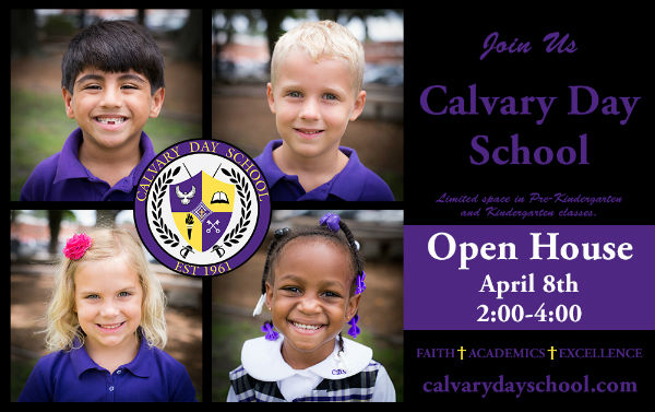 Savannah Schools Calvary Day School private open houses