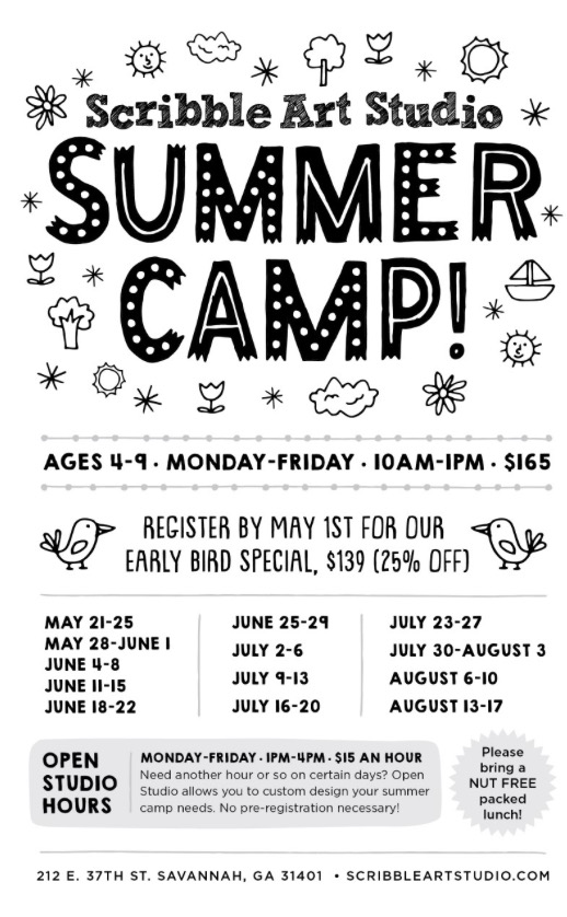 Savannah Summer Camps Scribble Art Camp 2018