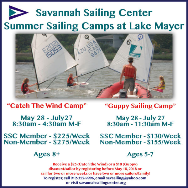 Savannah Sailing Center Summer Camps 2018