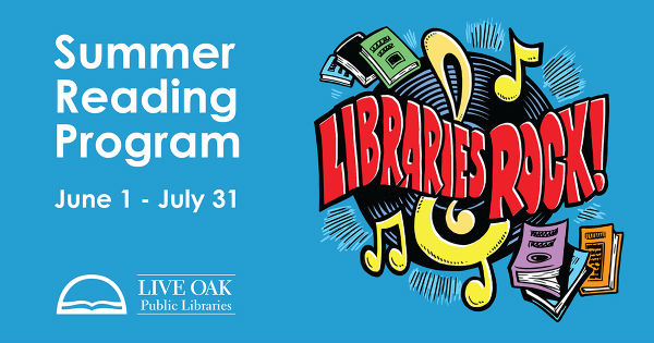 free summer reading events programs kids Live Oak Public Libraries Savannah