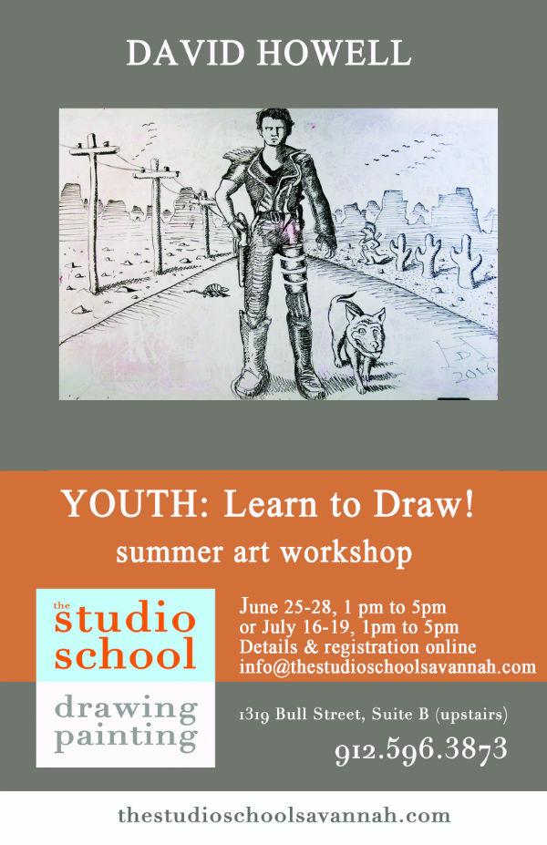 Drawing Camp Summer Studio School Kids Teens Youth Savannah 2018