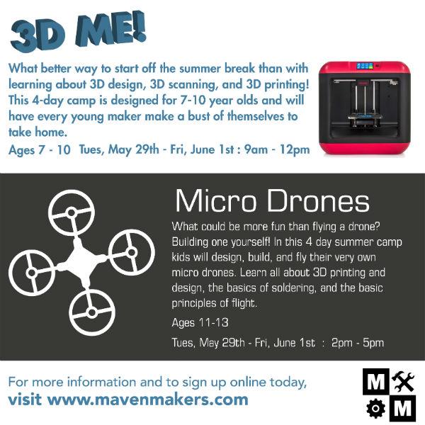 Drones STEM robotics savannah 3D Maven Makers summer camps 2018