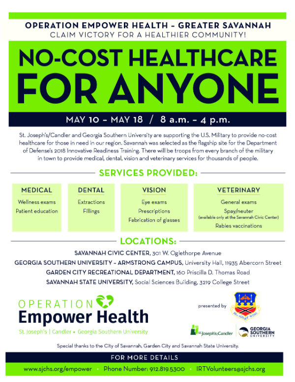 Free healthcare no-cost Savannah Empower Health