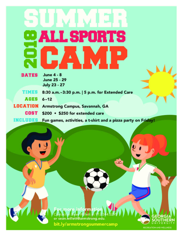 All Sports Camps Savannah Armstrong Soccer Basketball