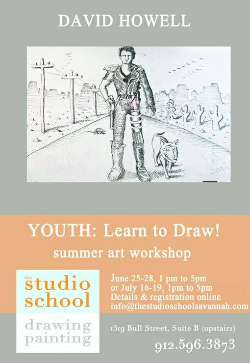 Drawing youth workshop studio school Savannah summer camps