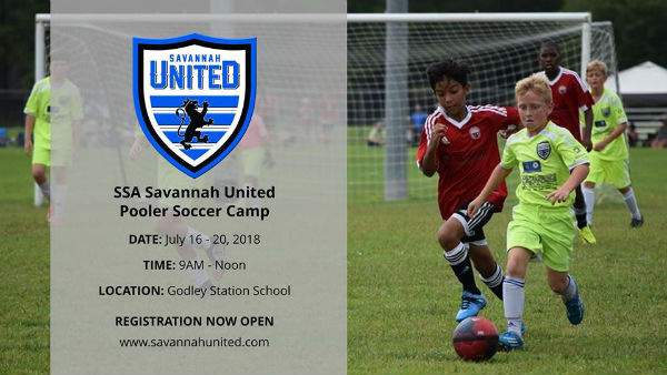 Savannah United Pooler Soccer Summer Camp 2018