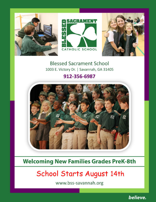 Savannah schools private Catholic Blessed Sacrament