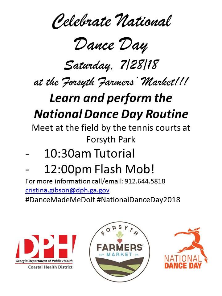 National Dance Day Flash Mob Savannah 2018