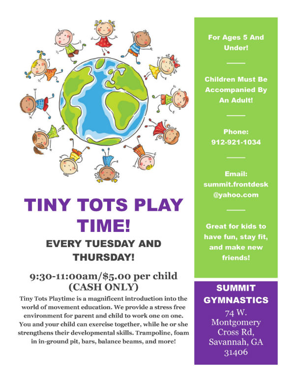 Tiny Tots Play Time Summit Gymnastics Savannah