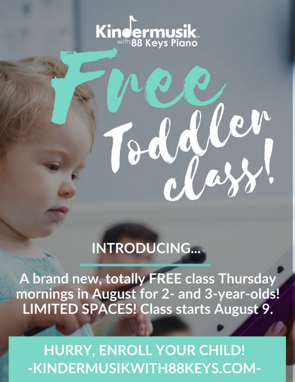 Free Kindermusik Savannah toddlers