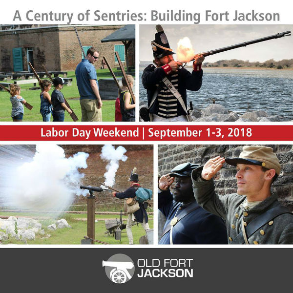 Savannah museums forts Old Fort Jackson Labor Day Weekend 2018