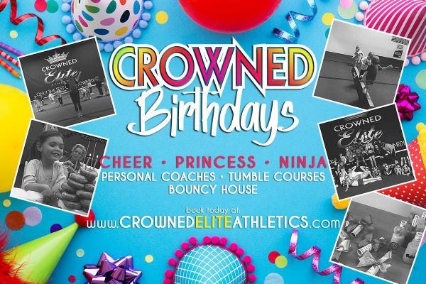 Children's birthday parties ninja princess cheer Crowned Elite Athletics