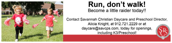 Daycare childcare Savannah Christian Preparatory School SCPS private schools